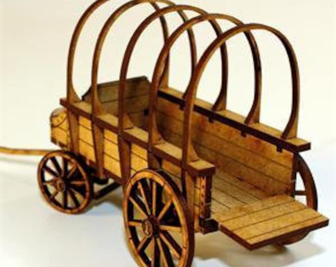 28mm Terrain: General Purpose Wagon - 4Ground Miniatures