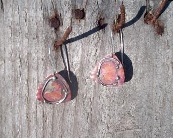 HM Sterling Copper Earrings