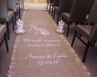 Personalised Birdcage Aisle Runner