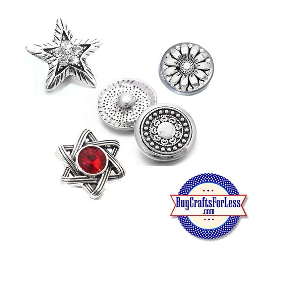 SNAP METAL Buttons, 18mm INTERCHaNGABLE NeW Buttons +FREE Shipping & Discounts