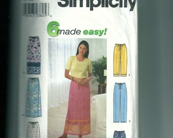 Simplicity Misses' Skirt and Pants or Shorts Pattern 9139