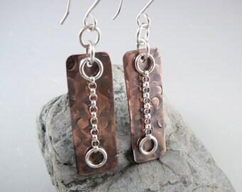 Nickel Free Earrings, Copper Earrings, 7th Anniversary Gift, Cool Earrings, Copper Anniversary, Copper Gift for Her, Latest Earrings