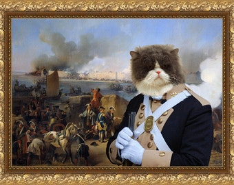 Persian Cat Fine Art Canvas Print - Three Hours Later