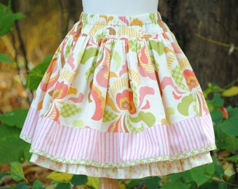 Girl's Twirly Skirt, Girls Skirts, Childrens Clothing, Girls Clothing, Toddler skirt, Petticoat, Twirly skirt, size 2 3 4 5 6 7 8