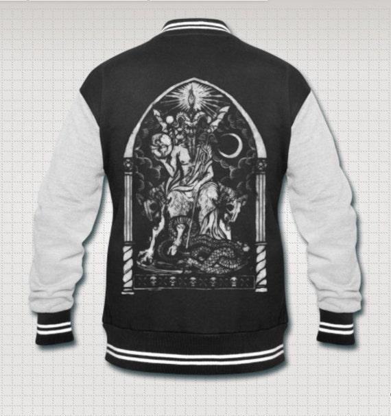 Lucifer The Light Bearer Varsity jacket AiEshpF