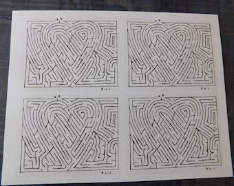 Digital Version Heart Maze Sheet (Amazadoodle)