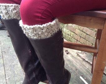 Knit Boot Cuffs Cream - Boot Toppers - Boot Socks - Leg Warmers - Women's Accessoriesk
