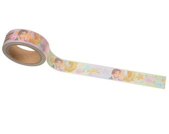 Disney princess Rapunzel & Flynn Rider love washi tape entire roll (8.75yd)