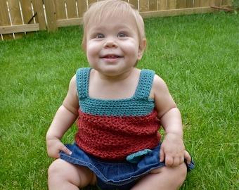 Selina Baby Tank Top - PDF Crochet Pattern - INSTANT DOWNLOAD