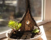 Fairy Cottage - Wood Bark...