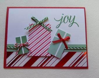 Joy Christmas Present Card