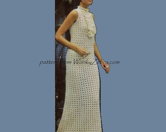 Crochet Dress Pattern 192 PDF Jabot Mini Maxi from WonkyZebra