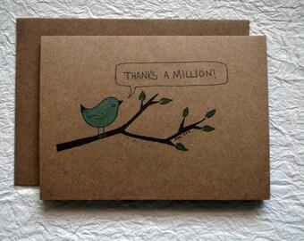 Little Bird Thanks a Million Card