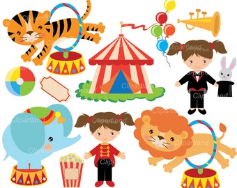 INSTANT Download. Circus clip art. Ccirc_30. Personal and commercial use.