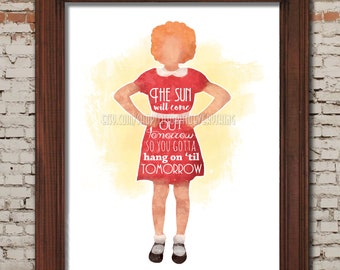 Tomorrow -- Orphan Annie Printable 8x10 Poster -- DIGITAL DOWNLOAD / Instant Download / Printable / Musical