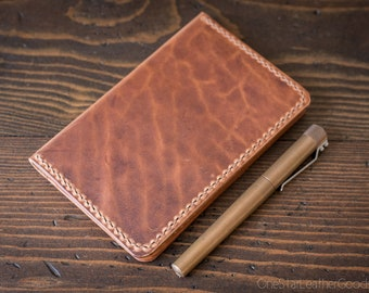 "Field Notes wallet, ""Park Sloper No Pen,"" notebook cover w/ back pockets - Horween Dublin leather"