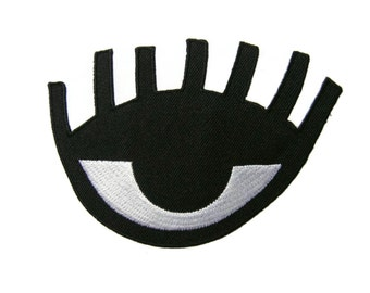 Eye Patch Embroidered Applique Iron on Patch