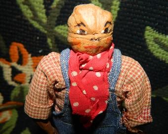 1950's Bob Burns Radio Show Character Doll, Ozark Hillbillies, Ozark Mountain Entertainer, Mrs. Smith Hand Carved Wood Doll, Hickory Nut