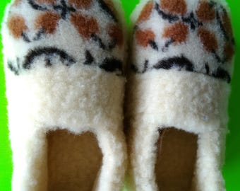 women's wool shoes   women slippers   handmade slippers   house shoes