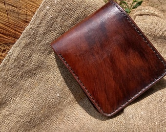 Mens leather wallet, Personalized Leather wallet, Mens wallet personalized, Anniversary gifts, gift for men, personalized, Minimalist Wallet