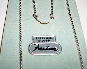 Forstner Sterling Silver ball chain 15 inch Priscilla John Alden FREE SHIPPING