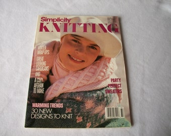 Simplicity Knitting Winter 88 Magazine - Vintage 1988 Knitting Patterns - Knitting Patterns - Knitting Magazine - Vintage Knitting Magazine