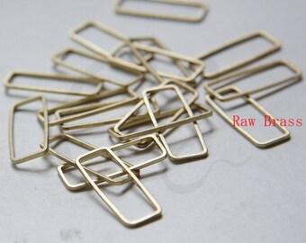30pcs Raw Brass Rectangle Ring - Link 9x24mm (3296C-N-347)