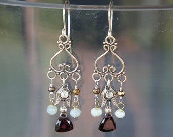 Chandelier Antique Assemblage Earrings