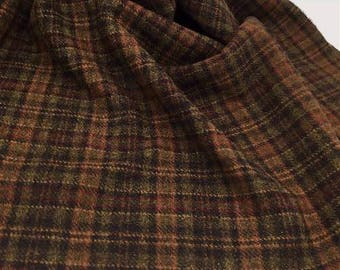 Autumn Plaid 100% wool, milled dyed, various sizes