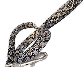 Black and Gold  Dog Leash