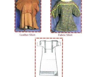 Native American Indian Eagle Wing Shirt or Dress (Old Style) Sewing Pattern by SparrowHawk for Men, Women, Children