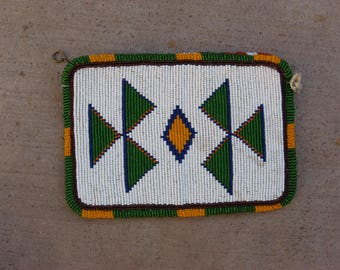 Vintage Native American Sioux Plains Indians Beaded Ladies Wallet