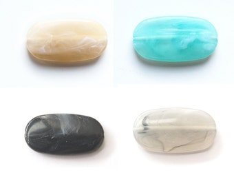 Perla bead oval 29x16mm available in 7 colours (2 pieces)