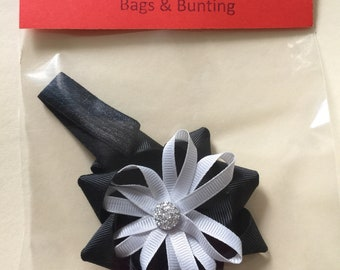Baby hair bands small rosette ribbon detail