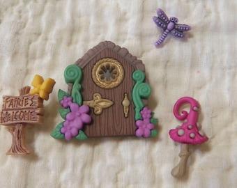 Woodland Fairie Button Set
