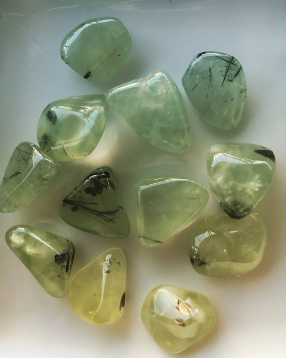 listing gemstone stone il prehnite metaphysical chakra tumbled