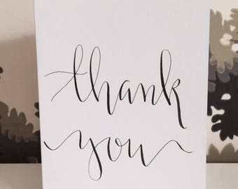 8x Thank You / custom calligraphy cards
