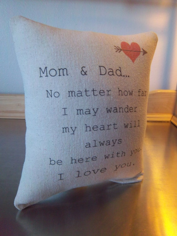 Gift For Parents Mom And Dad Pillow Mom Dad Anniversary Gift