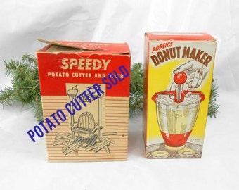 Vintage Popeil Brothers donut maker original box Popeil Brothers vintage kitchen tools retro donut maker mid century donut maker no 16