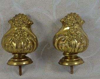 2 Antique French Guilded Bronze Curtain Tiebacks ~ Curtain End ~ Ornate  Furniture ~ French Chateau