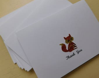 Card sale five cards sale 5 for 15 handmade greeting fox card fox thank you note fox note cards handmade greeting cards with m4hsunfo