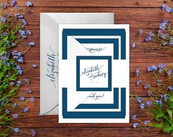 Wedding Invitations - DEPOSIT TO START Classic Calligraphy Suite - Custom Wedding Invites - Personalized Wedding Invitation Suite - #wdi-240