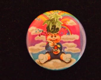 weed pot bud Garbage Pail Kids Adam Bomb Blasted Billy custom art collage marijuana plant