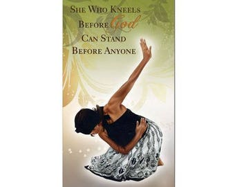 She Who Kneels Before God Can Stand Before Anyone 2018-2019 Checkbook Planner