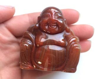 Carnelian buddha carving medium