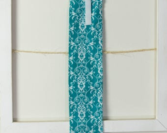 """Horse Tail Bag 28"""" - Turquoise and White Paisley  - Handmade"""
