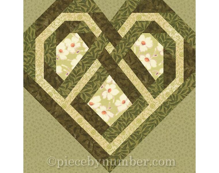Celtic Heart quilt block paper pieced quilt patterns instant : irish quilt pattern - Adamdwight.com