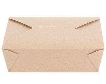 25 PCS 71 fl oz Kraft Microwavable Paper Take-Out Container, Take Out Boxes, Containers, Take Out Container, Eco-Friendly, Party, Wedding