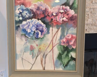 Gift for the birthday,Mother's Day,Hydrangea,Original watercolor,Watercolor painting,Professional picture,floral watercolor,painting art