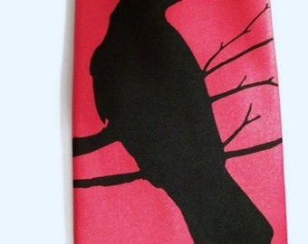 RokGear Crow Raven design - 10 Men's Microfiber neckties Print to order colors of your choice